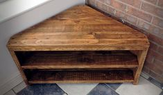 Wood Corner TV Unit TV Stand Pallet furniture Recycled Pallet Solid Wooden Bespoke avail - My Website 2020 Recycled Furniture, Pallet Furniture, Furniture Projects, Corner Furniture, Corner Tv Stands, Corner Tv Unit, Corner Table, Tv Diy, Coin Tv