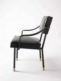 Jacques Adnet armchair, Hermes France, 1950s.