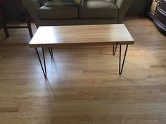 Bowling lane coffee table