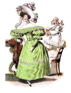 Fashion plate, 1830's, unknown source