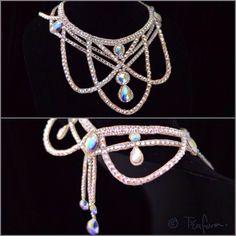 Crystal AB ballroom jewelry necklace.