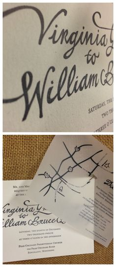 pretty debossed wedding invitations with paper vellum directions