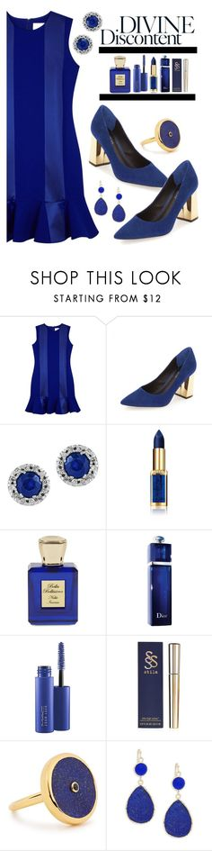 """All Blue"" by sunny-chen-2 ❤ liked on Polyvore featuring Victoria, Victoria Beckham, Effy Jewelry, L'Oréal Paris, Bella Bellissima, Christian Dior, MAC Cosmetics, Lola Rose and Panacea"