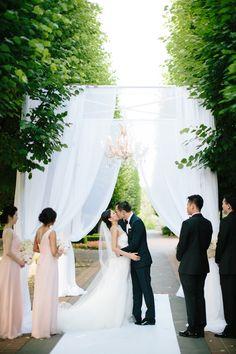Photography : Jenelle Kappe Photography | Wedding Dress : Marchesa Read More on SMP: http://www.stylemepretty.com/illinois-weddings/chicago/2014/12/15/chicago-botanic-garden-wedding-2/
