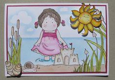 Magnolia stamps summercard.    www.biancahobbyhoek.nl