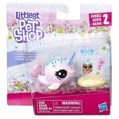 Littlest Pet Shop Series 2 Pet Pairs Ambrosia Narwhalz ( Pet Lps Littlest Pet Shop, Little Pet Shop Toys, Little Pets, Girl Toys Age 5, Toys For Girls, Minis, Lps Sets, Lps Houses, American Girl Doll Bed