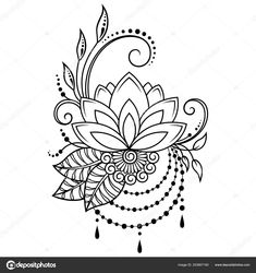 Mehndi Lotus flower pattern for Henna drawing and tattoo. Decoration in ethnic o. Mehndi Lotus flower pattern for Henna drawing and tattoo. Decoration in ethnic oriental, Indian style. Mandala Tattoo Design, Henna Tattoo Designs, Mehandi Designs Images, Dotwork Tattoo Mandala, Mehndi Art Designs, Henna Mandala, Henna Designs Drawing, Tattoo Ideas, Henna Tattoos