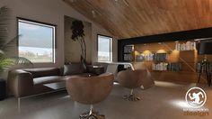 Erden Ekin Design – Patron Odası: tarz Ofis Alanları