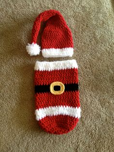 PDF Santa Cocoon and Hat PATTERN Christmas Crochet by BizeeB, $4.50