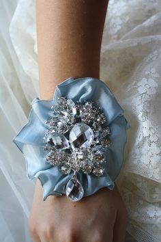 Brooch Wrist Corsage Bridal Wrist CorsageWedding by AbbyPlace, $39.00