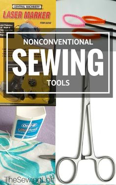 Holy Cow, I never would have thought to use these everyday items could double as nonconventional sewing tools but WOW, I think they can really be helpful. Sewing Basics, Sewing Hacks, Sewing Tutorials, Sewing Patterns, Sewing Tips, Sewing Ideas, Basic Sewing, Fun Patterns, Skirt Patterns