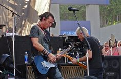 Gavin Rossdale of Bush with his Asher S Custom guitar