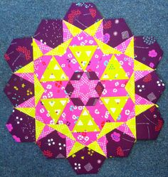 Linda's Quiltmania: Rosette # 5 The New Hexagon Milllefiore Quilt-Along