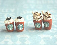 starbucks frappucino stud earrings