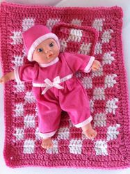 Baby Doll Afghan & Pillow | AllFreeCrochetAfghanPatterns.com