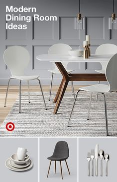 Give your dining room a modern decor update with ideas for dinnerware chairs & tables. Give your dining room a modern decor update with ideas for dinnerware chairs & tables. Dining Room Table Decor, Dining Nook, Dining Chairs, Room Decor, Home Design, Home Interior Design, Colour Combinations Interior, French Country Dining Room, Luxury Dining Room