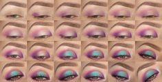 Mermaid Halo Eye Makeup Tutorial with @nalbantova  *VISIT SITE FOR FULL PRODUCT LIST + TUTORIAL*    #mua #makeup #makeuptutorial #eyes #blueeyes #howto #spring #summer #shimmer #halo #smoky #glam #lashes #wingedeyeliner #mermaid