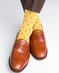 Yolk with Clematis Blue Dot Sock Linked Toe Mid-Calf