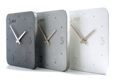 Clock of concrete, Kitchen Clock