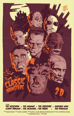CLASSIC MONSTERS  Design by MIke Wrobel (Moshi-Kun)