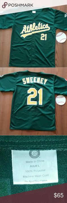 Oakland A's Sweeney Jersey Large Size: Large  Color: Green & Yellow   Only worn a few times to games. In Excellent used condition. Shirts