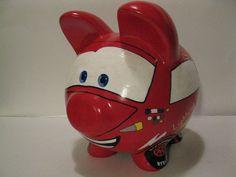 Race Car Piggy Bank Kids Personalized Piggy Banks   by PigPatrol, $44.00
