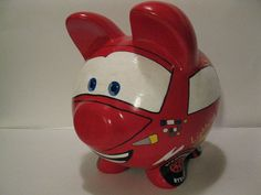 Race Car Piggy Bank Kids Personalized Piggy Banks   by PigPatrol, $44.00