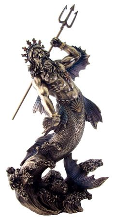Poseidon [TL171800275] - $55.00 : The Guiding Tree | Online Metaphysical, Pagan, Body Mind Spirit Store | Statuary, Gifts, Tarot, Learning Cards, Music, Unique Gifts For Body Mind and Spirit
