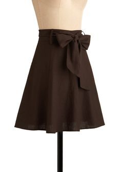 brown skirt with white or orange top for bridesmaids
