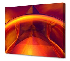 'Orange Reflections' by Scott J. Menaul Graphic Art on Wrapped Canvas