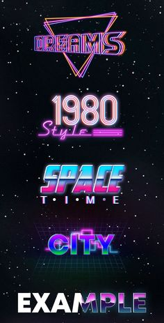 Download this bright and really amazing 10 Free 80s Text Effects for the best themed graphic design and awesome presentations of your business! Identify design and corporate style, or just implement your creative idea. #PsFiles
