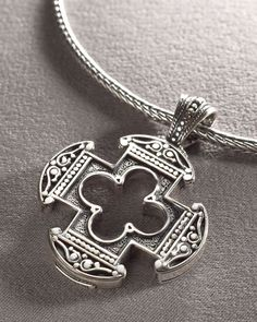 Konstantino - Clover Cross Pendant