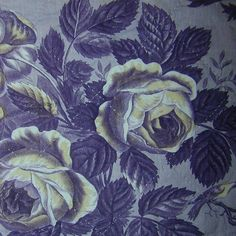 French antique quilted toile