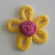 This pin leads to directions for loom knitting, but this could easily be made out of i-cord. Cute!