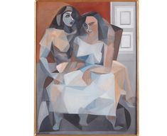 Louise Henderson, Les deux amies (The two friends), 1953. Purchased 2011 with the assistance of the Molly Morpeth Canaday fund. Te Papa (2011-0012-1).