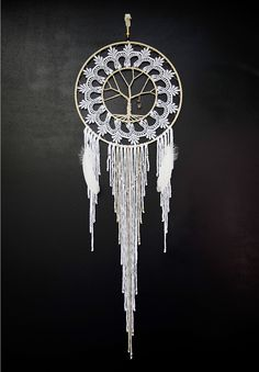Victorian Tree of Life Dream Catcher Dream Catchers For Sale, Large Dream Catcher, Macrame Jewelry Tutorial, Yarn Wall Art, Touch Love, Dream Catcher Native American, Celtic Tree Of Life, Beautiful Dream, Hanging Tapestry
