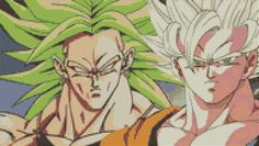 Dragonball Z - Broly & Goku (20 Colors) Cross Stitch Pattern