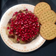 Baked Pomegranate and Brie: Notes In My Pocket