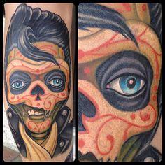 Elvis Sugar Skull by Jason Stephan