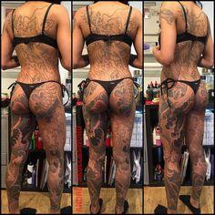 Bodysuit progression on Lauren @__andre_skullnsword__ @blackclaw @__thegreys__ #andremalcolm™ #skullandsword #blackclaw needle #thegreys™ #womenwithbodysuits™ thank you Lauren by __andre_skullnsword__...