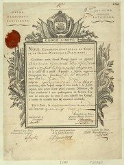 French Revolution Digital Archive: Congé limité nous, commandant-général du corps de la Garde nationale parisienne... : [estampe]