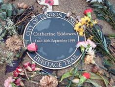 Grave of Catherine Eddowes - 4th victim of Jack the Ripper. City of London Cemetery, London, England.