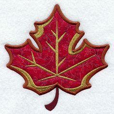 Maple Leaf (Applique) design (Y3334) from www.Emblibrary.com