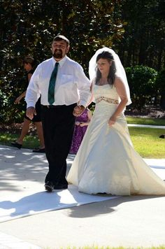 Daddy walking me down the aisle