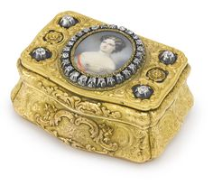 A Russian Gold and Diamond-Set Presentation Snuff Box, St. Petersburg, 1847 | Lot | Sotheby's