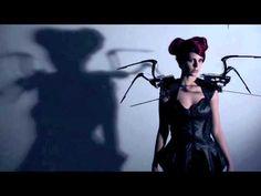 CREEPY COUTURE; mechanic SPIDER DRESS || animatronic fashion