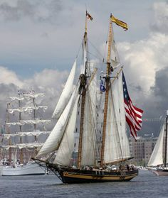 Tall ships` Now here is a beauty I got to see the tall ships sail into the bay in RI and it took my breath  away