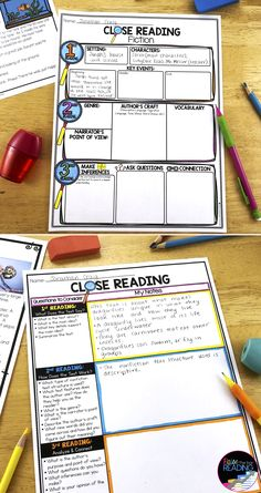 Close Reading Graphic Organizers Teaching close reading with these reading graphic organizers breaks down what students need to do for [… Close Reading Poster, Close Reading Lessons, Close Reading Strategies, Close Reading Activities, Reading Posters, Reading Comprehension Strategies, Teaching Reading, Reading Passages, Guided Reading