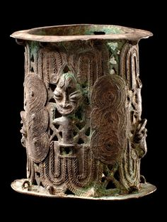 Africa | Bracelet from the Yoruba people of Nigeria | These are now more commonly used as altar stands | Brass | 900€ ~ sold