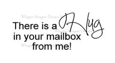 Mailbox Hug on www.addictedtorubberstamps.com